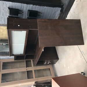 Ikea China display cabinet 125.00 and office desk 250.00