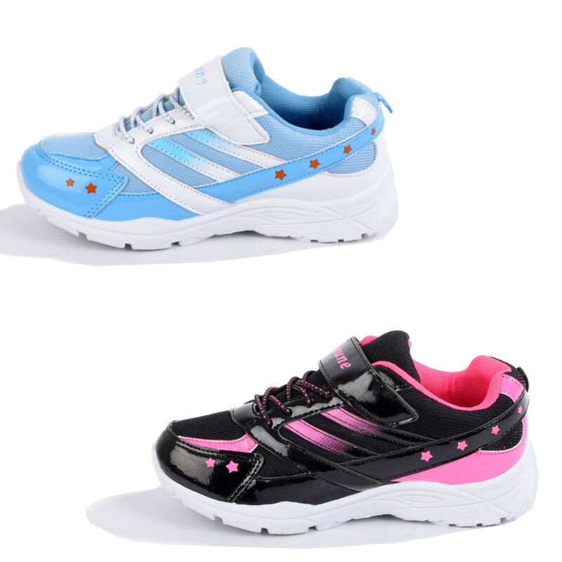 452044f45352f6 Kinder Mädchen Schuhe Sneaker Turnschuhe Sportschuhe schwarz pink blau weiss
