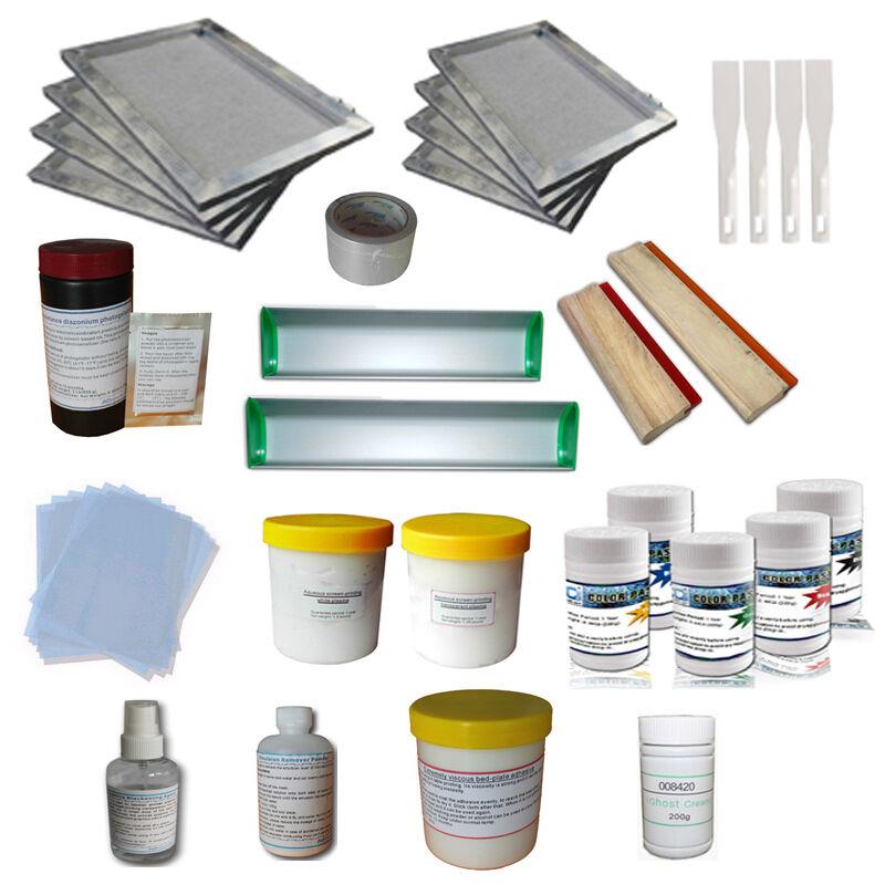 Simple Screen Printing Materials Kit T-Shirt Printing Package Printing Squeegee