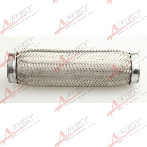 """2.25/"""" Exhaust Flex Pipe 2 1//4/"""" x 10/"""" OL Heavy Duty Stainless Steel Interlock US"""