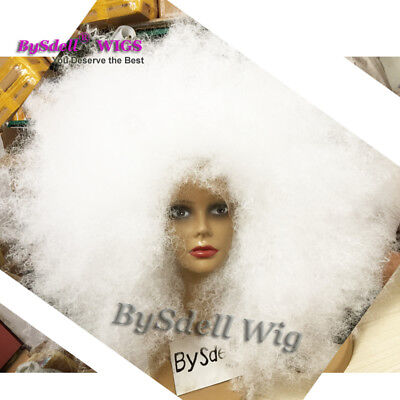 Synthetic Snow White Color Hair Big Kinky Curly Lace Front Wigs For Drag Queen](Snow White Wig For Adults)