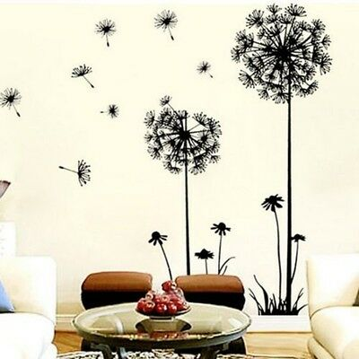 Dandelion Fly Mural Removable Decal Room Wall ...
