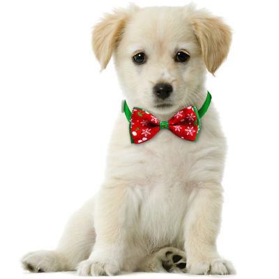 Dog Accessories Uk - Pet Dog Cat Christmas Accessories Bow Tie Adjustable Necktie Collar Bowtie UK