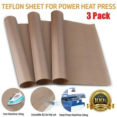 3 Pack Teflon Sheet For Heat Press Transfer Non Stick 16 X 24 Craft Mats Brown