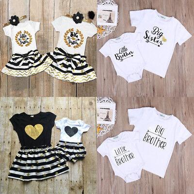 Cute Kid Outfits (Cute Newborn Kid Baby Boys Girls Romper T-shirt Dress Matching Outfits)