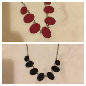Reversible Black and Red Necklace Belleville Belleville Area image 1