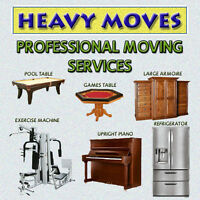 WE SPECIALIZE AND HAVE THE EXPERIENCE IN MOVING HEAVY ITEMS