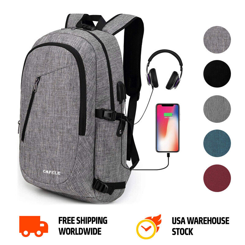 Laptop Computer Backpack for Men & Women Anti-theft Slim Sch