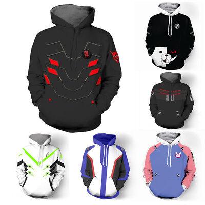 Halloween Overwatch OW Genji Reaper 76 DVA Sweatshirt Hoodies Cosplay Costume