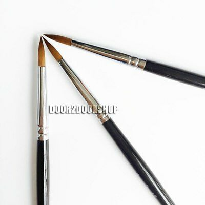 3pcs New Dental Porcelain Brush Pen 6 Dental Lab Equipment.