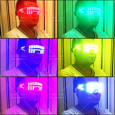 7 Colors LED Stage Lights DJ Glasses Nightclub Music Bar Party Dance - Halloween Party Night Club Music