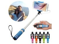 Selfie stick mono pod iPhone Samsung new wired