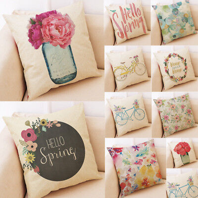 Pillow Cushion Cover Hello Spring Throw Pillowcase Pillow Covers Home Decor US](Spring Decorations)