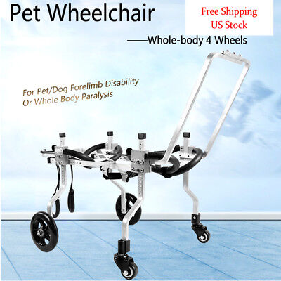 BestParts 10 Types Whole-body 4wheels Pets/Dogs Wheelchair for Handicapped Dogs