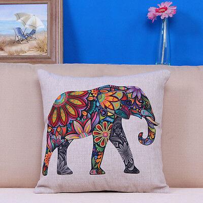 Boho Bohemian Elephant Paisley Accent Decorative Throw Pillow Dorm Home Decor