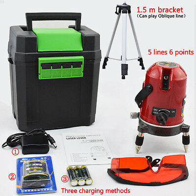 5 Line 6 Point Auto Self Leveling Rotary Laser Level Meter With Tripod Stand