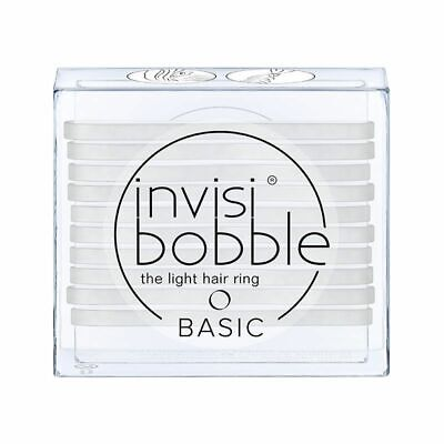 Invisibobble The Light Hair Ring 10 Pack BASIC Crystal Clear