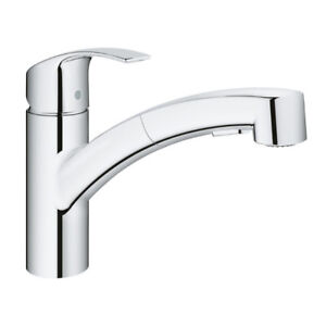 Grohe 30306000 Eurosmart Single Handle Pull Out Kitchen Faucet C