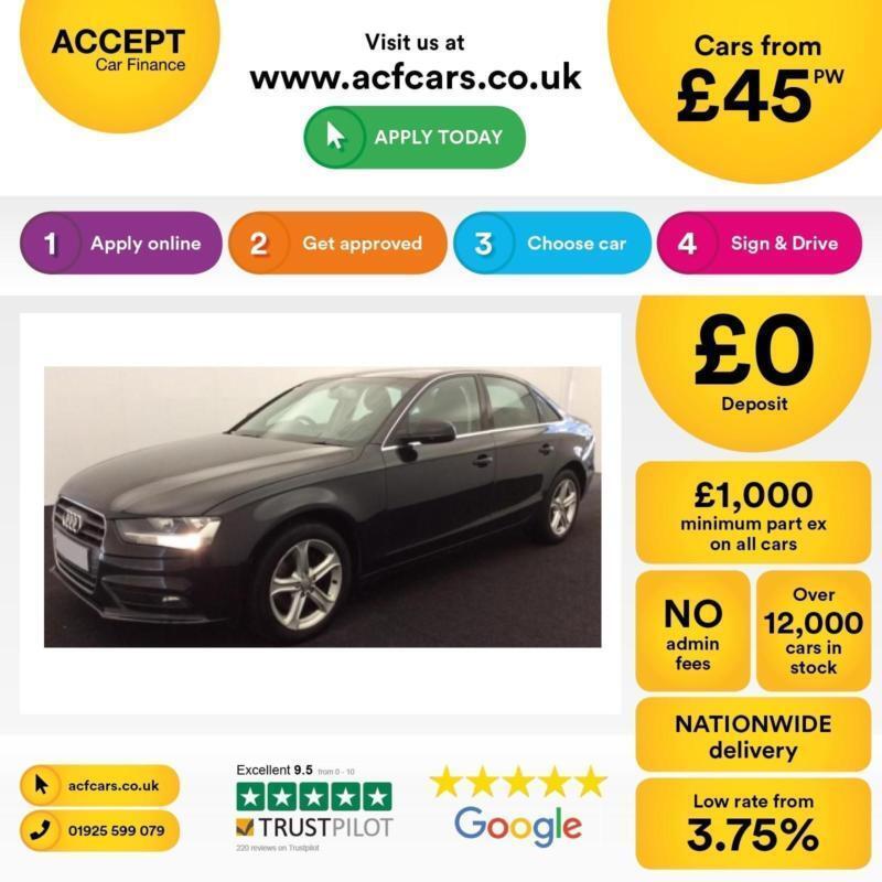 Audi A4 2.0TDI ( 177ps ) 2013MY SE Technik FROM £45 PER WEEK !