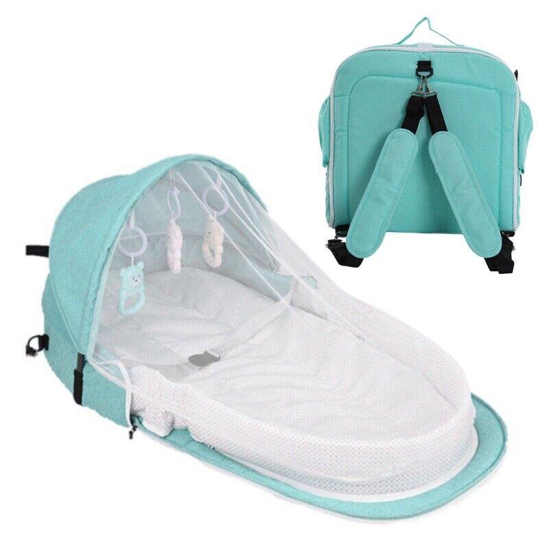 Foldable Safety Portable Baby Bed Crib Travel Newborn Infant Bassinet Sleeper