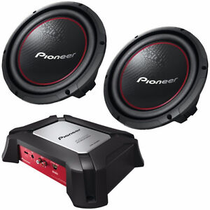 BNIB sealed pioneer dual sub woofer and Dual 10 inch Sub Audio