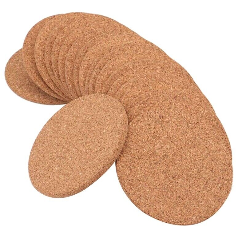 Round 3.9 Inch Absorbent Cork Coasters For Drinks In Office,home,or Cottag C4s0