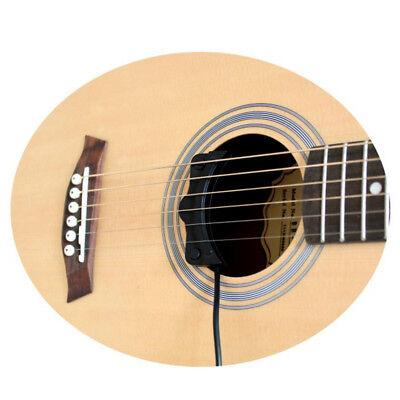 Black Classical Acoustic Guitar Amp Amplifier Soundhole Pickup 5M Accessories