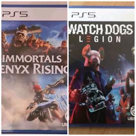 IMMORTALS FENYX RISING & WATCHDOGS LEGION PS5 GAMES