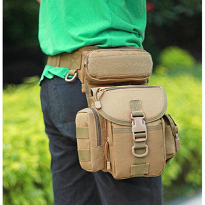 Men Fashion Hip Leg Bag Motorcycle Rider Tactical CasualBelt