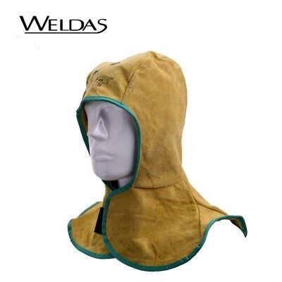 Flame Resistance Leather Welding Hat Welder Cap Head Neck Protective Hood