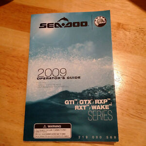 Owner Manual for 2009 SeaDoo models