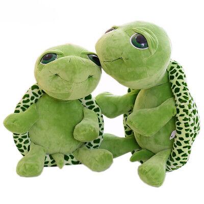Grün Schildkröte Plüsch Stofftier Großes Auge Kuscheltier Landschildkröte