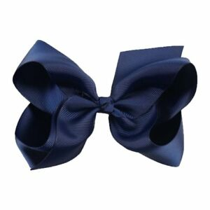 Royal Blue hair bow clip school colour hair accessories