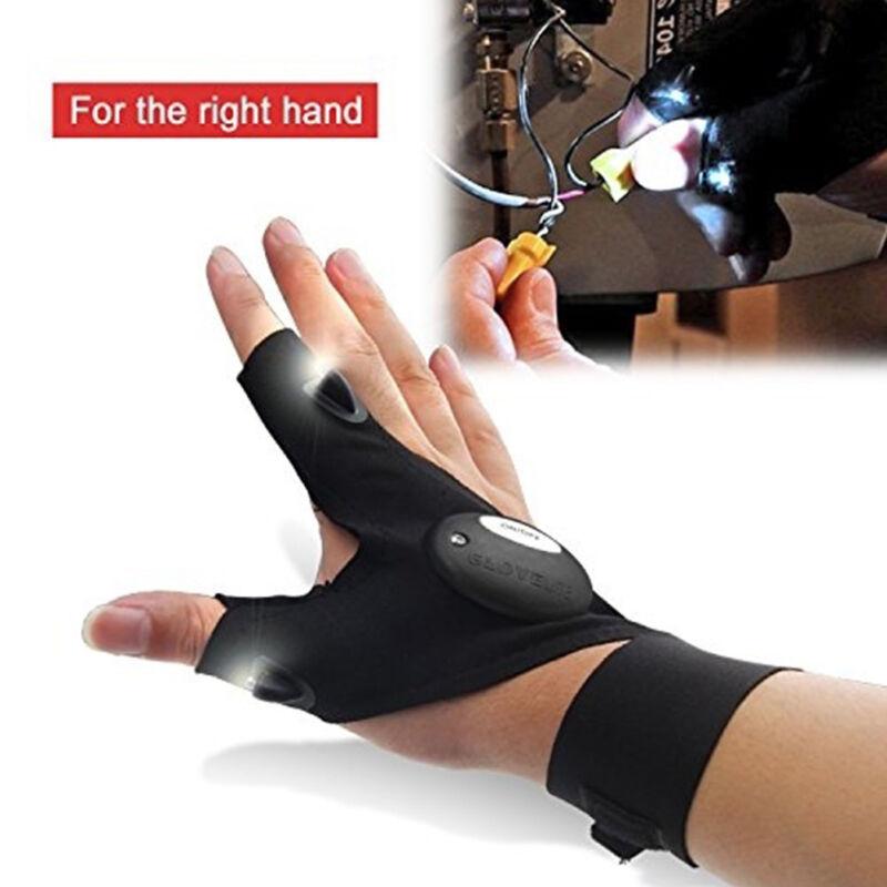 US STOCK! LED Light Gloves Finger Lighting Flashing Outdoor Electrician Repair