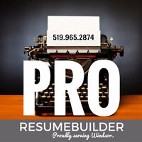 PRO RESUME BUILDING - interview prep included $39.99