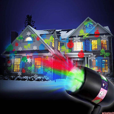Laser Fairy Light Projection Projector Xmas Halloween Outdoor Landscape Lamp SJ