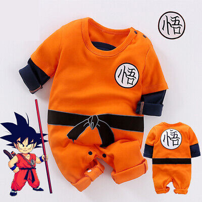 Cute Baby Dragon Ball Goku Costume Baby Boy Romper Jumpsuit Bodysuit Outfits  - Dbz Goku Costume
