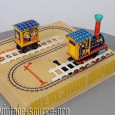 alte Blech Eisenbahn Baukasten Blechspielzeug mechanisch USSR 80er Jahre in OVP