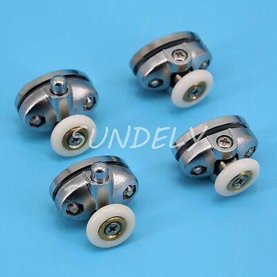 High Quantity 4x Single Shower Door ROLLERS /Runners /Wheels 23mm in Diameter