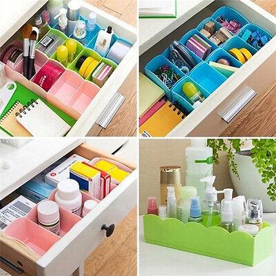 Drawer Organizer Storage Divider Box Case Tie Bra Socks Cosmetic Medicine TH