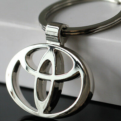 NEW hot TOYOTA/toyota Car KeyRing STAINLESS CAR LOGO FOB  KEY RING KEY CHAIN