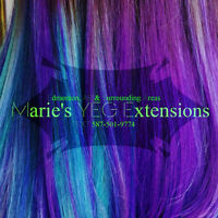 hair extension trade for tattoos or nail tech!