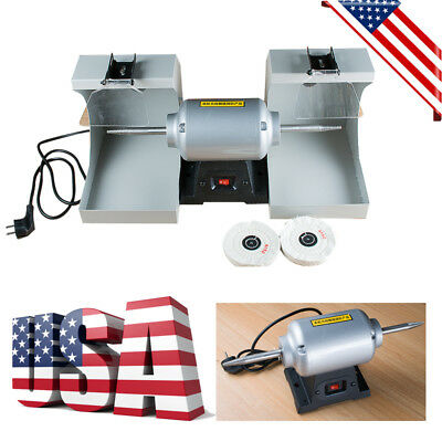 Powerful Dental Lab Jewellry Polishing Lathe Machine 2 Dust Hood High Rotational