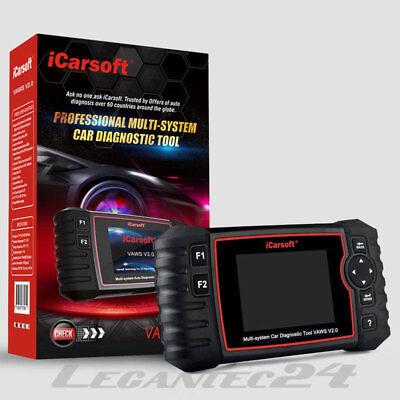 3 Gerät Einstellen (iCarsoft VAWS V2.0 VW Volkswagen Diagnosegerät Diagnose Service Reset ABS ÖL DPF)