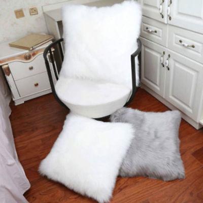 Faux Fur Pillow Cover - Soft Faux Fur Throw Pillow Case Fluffy Plush Sofa Cushion Cover Home Decor US
