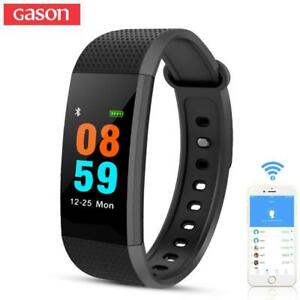 GASON Sport Smart Bracelet Watch Band Heart Blood Pressure Monitor Fitness Calorie Wristband waterproof Sleep Tracker Pe