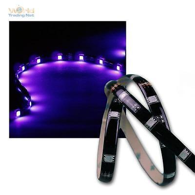 set 1m rgb stripe ip44 mit netzteil fernbedienung leuchtstreifen lichtband led ebay. Black Bedroom Furniture Sets. Home Design Ideas