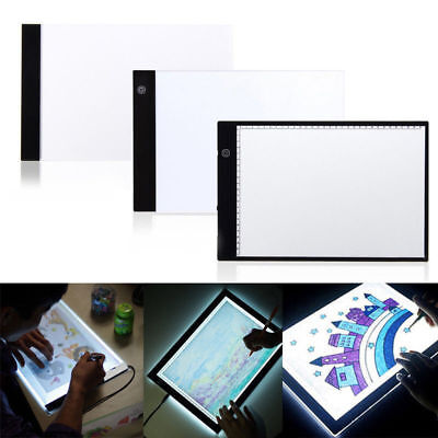 A4 Zeichnung Pad LED Tracing Light Box Board Kunst Tattoo Boards Tisch Display