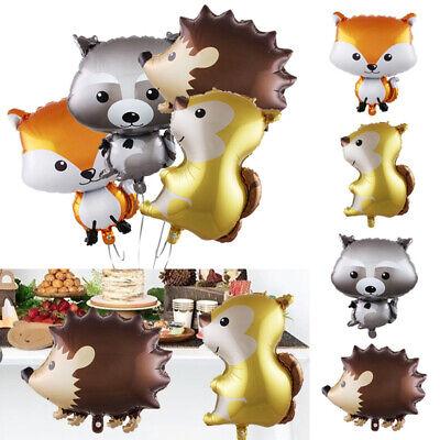 Animal Squirrel Hedgehog Fox Foil Balloon Jungle Birthday Party Supply - Animal Birthday Party