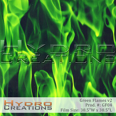 Hydrographic Film For Hydro Dipping Water Transfer Film Green Flames V2